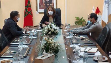 الصورة من إجتماع بعض أعضاء مكتب جمعية APAG مع السيدة فاطمة الحساني رئيسة الجهة بمقر مجلس الجهة